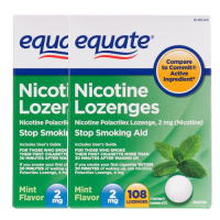 Nicotine Lozenge 2mg 108ps. x 2 Mint Equate Stop Smoking Aid