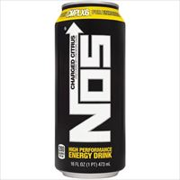 NOS Charged Citrus High Performance Energy Drink 16 oz x 24