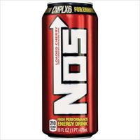 NOS Loaded Cherry High Performance Energy Drink 16 oz x 24