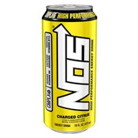 NOS Charged Citrus High Performance Energy Drink 16 oz x 12