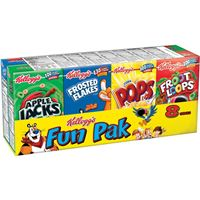 Kellogg's Assorted Cereal Fun Pack 8 ct