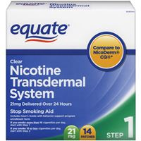Equate Nicotine Transdermal System Step1 (21mg) 14clear patches