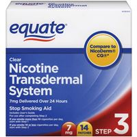 Equate Nicotine Transdermal System Step3 ( 7mg) 14clear patches