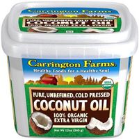 Carrington Farms 100% Organic Extra Virgin Coconut Oil 12 oz