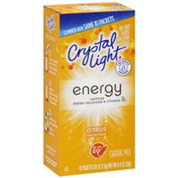Crystal Light On The Go Energy Citrus Sugar Free Drink Mix 10ct