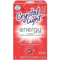 Crystal Light On The Go Energy Wild Strawberry 0.11oz x 10ct