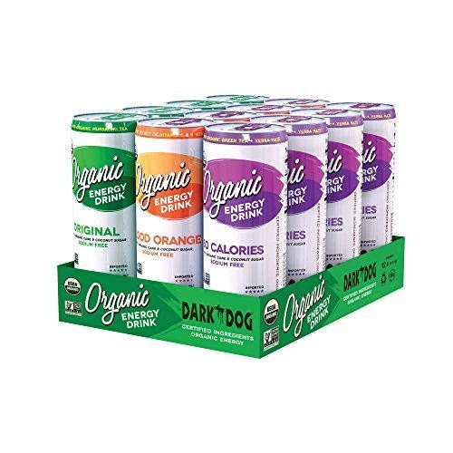 DARK DOG ORGANIC Variety Pack Energy Drink 355ml (12oz) x 12