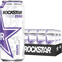 Rockstar Pure Zero Grape 473ml (16oz) x 24 cans