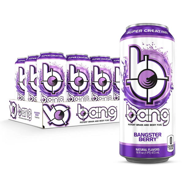 Bang Energy Drink Bangster Berry 473 ml (16 oz) x 12