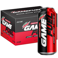 Mountain Dew AMP Game Fuel Charged Cherry Burst 16 oz x 12cans