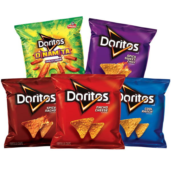 Doritos Tortilla Chips Hot and Spicy Mix Pack 40