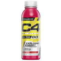 Cellucor C4 On The Go Pre Workout Energy Drink Fruit Punch 346ml (11.7 Fl Oz) x 12