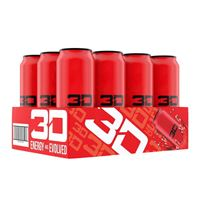3D Energy Drink Red 473ml 16oz x 12
