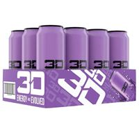 3D Energy Drink Purple 473ml 16oz x 12