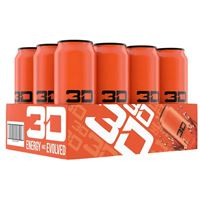3D Energy Drink Orange 473ml 16oz x 12
