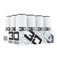 3D Energy Drink White 473ml 16oz x 12