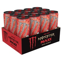 Monster Maxx Rad Red Zero Sugar Energy Drink 355ml (12oz) x 12