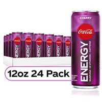 Coke Energy Cherry Coke Flavored Energy Drinks 12 oz x 24 Pack