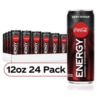 Coke Energy Zero Sugar Coca-cola Flavored Energy Drinks 12 oz x 24 Pack