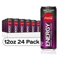 Coke Energy Zero Sugar Cherry Coke Flavored Energy Drinks 12 oz x 24 Pack