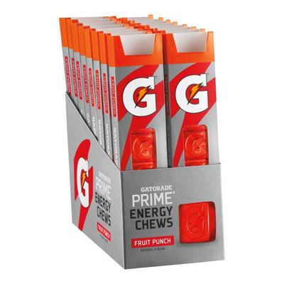 Gatorade Prime Energy Chews Fruit Punch 16 Count